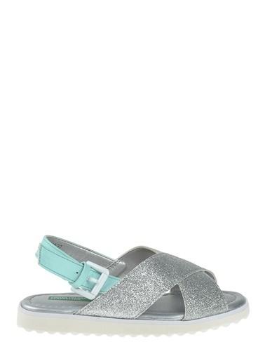 012 Benetton Sandalet Gümüş
